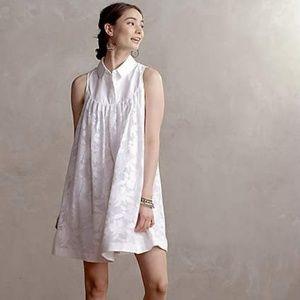Anthropologie Laced Poplin Swing Dress